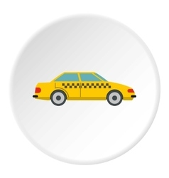 Taxi icon flat style vector