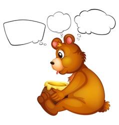 A hungry bear thinking vector image