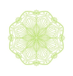 Round decorative floral mandala element vector