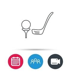 Golf club icon golfing sport sign vector
