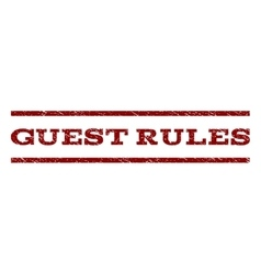 Guest rules watermark stamp vector