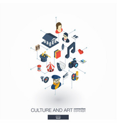 Culture art integrated 3d web icons digital vector