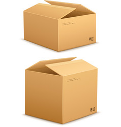 Cardboard box for packing vector image