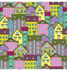 Background with colorful houses vector