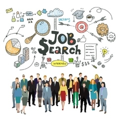 Concept of job search vector
