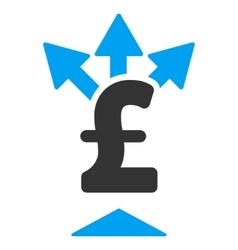 Split pound payment flat icon symbol vector