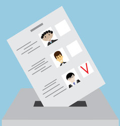 Bulletin box for votes vector