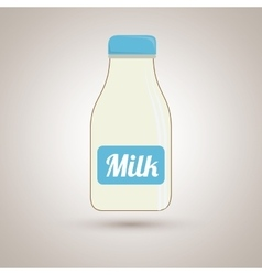 Milk bottle design vector