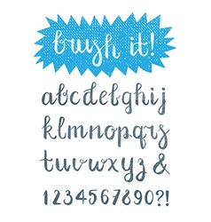 Calligraphic brush pen font hand drawn vector