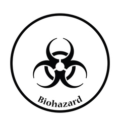 Biohazard icon vector