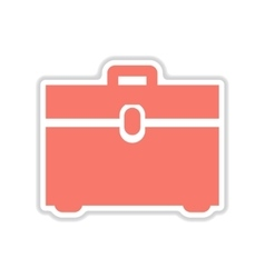 Paper sticker on white background business bag vector