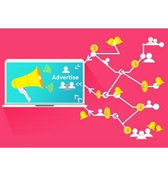 Advertise social network business megaphone vector