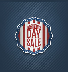 American independence day sale realistic banner vector