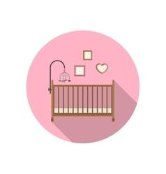 Baby crib icon vector image