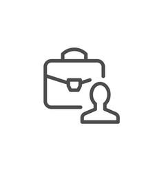 Business person line icon vector