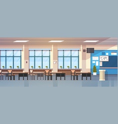 Class room interior empty school classroom with vector
