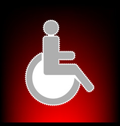 Disabled sign postage stamp or old vector
