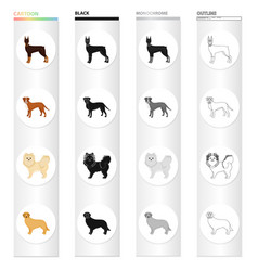 Doberman beagle pomeranian and other web icon vector