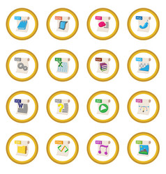 file format icon circle vector image