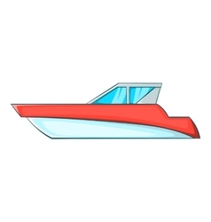 Great powerboat icon cartoon style vector