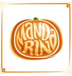 Logo for fresh mandarin vector