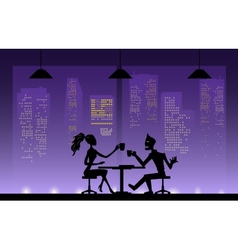 Love couples at night vector image vector image