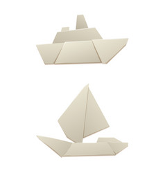 origami logistic paper boat transport concept vector image vector image