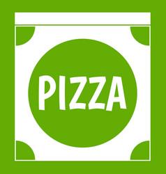 pizza box cover icon green vector image