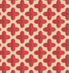 Retro fold red four pedal flowers vector