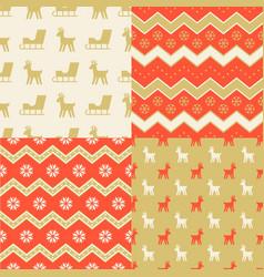 seamless pattern wallpaper of christmas sleigh vector image