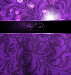 Seamless purple floral spring wallpaper with vector