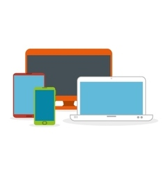 set technology devices icon vector image