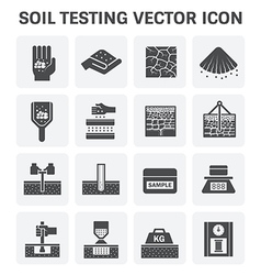 Soil Test icon vector image