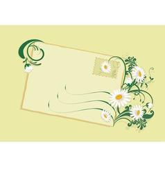 summer card with daisies vector image