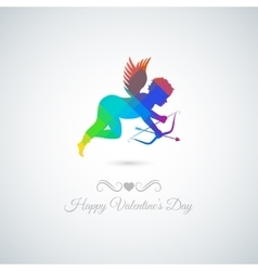 Valentines day abstract angel background vector image