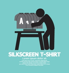Worker do silkscreening vector