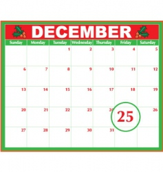 Christmas day calendar vector