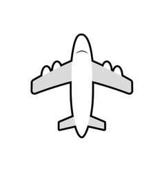 Airplane transportation white icon graphic vector