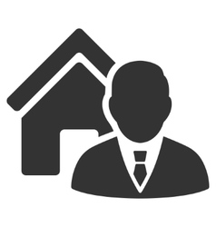 Realtor flat icon vector