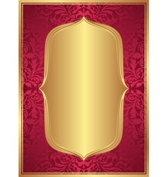 Red gold background vector