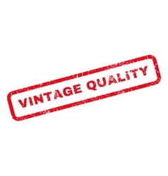 Vintage quality rubber stamp vector