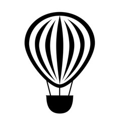 Balloon air travel icon vector