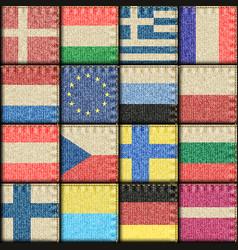 vintage europe patchwork pattern vector image