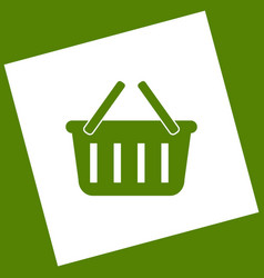 Shopping basket sign  white icon obtained vector