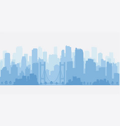 City panorama with skyscrapers skyline vector