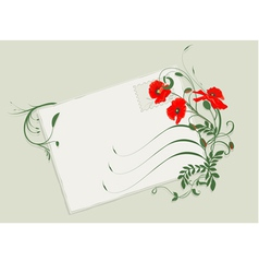 summer card with poppies vector image