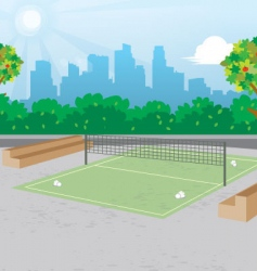 Outdoor badminton vector