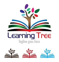 Learning Book with Tree vector image