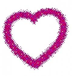 pink vector heart vector image