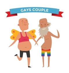 Homosexual gay people couple vector